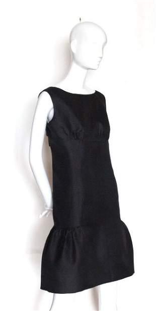 Christian Dior New York Black Silk Dress ca 1960s