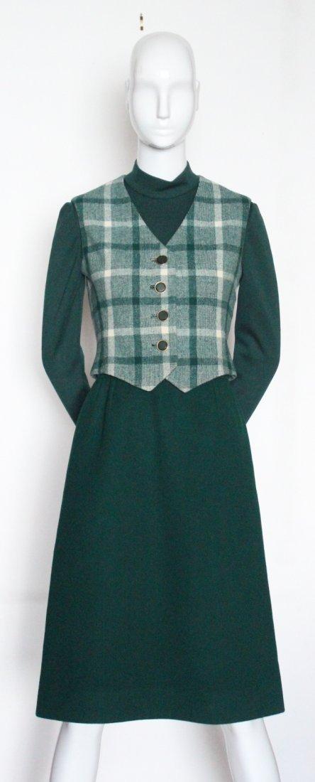 Bill Blass Green Wool Suit, ca. 1970's