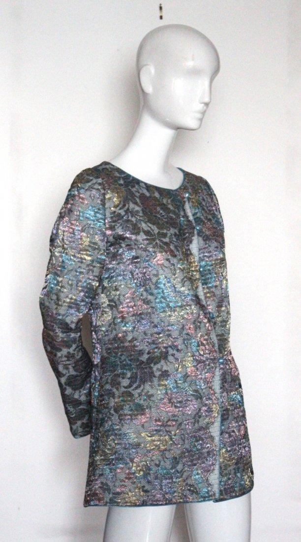 Mary McFadden Metallic Lace & Silk Jacket, ca.1980s-90s