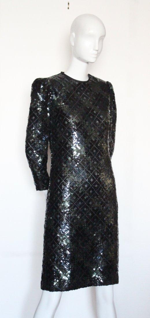 Bill Blass Sequined Evening Dress, ca. 1980's