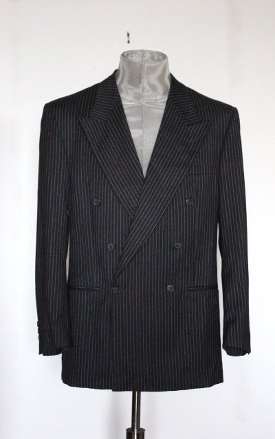 V2 by Versace Pin Stiripe Men's Suit, 1990's