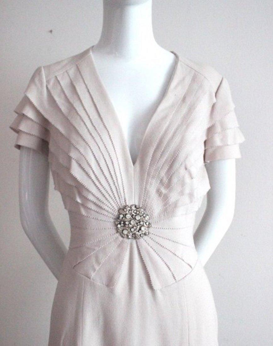 Roberto Cavalli Beige Wool Dress, ca. 2009