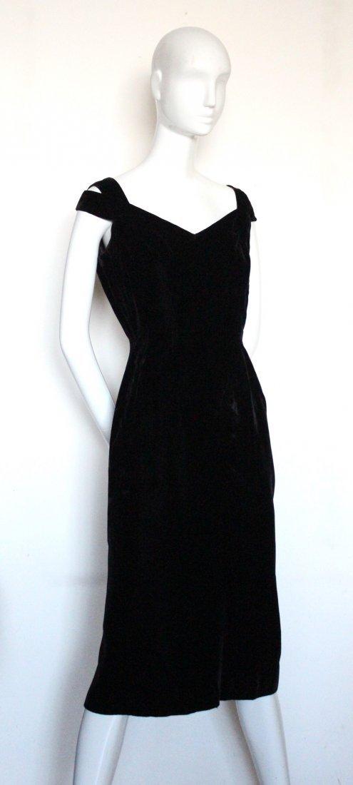 Balenciaga Eisa Haute Couture Velvet Dress, ca.1950's