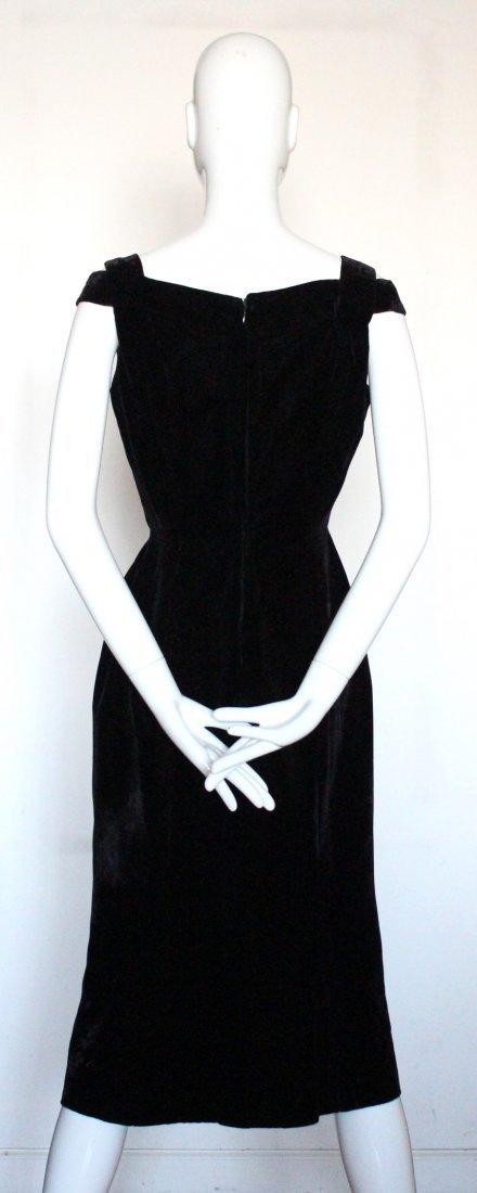 Balenciaga Eisa Haute Couture Velvet Dress, ca.1950's - 3