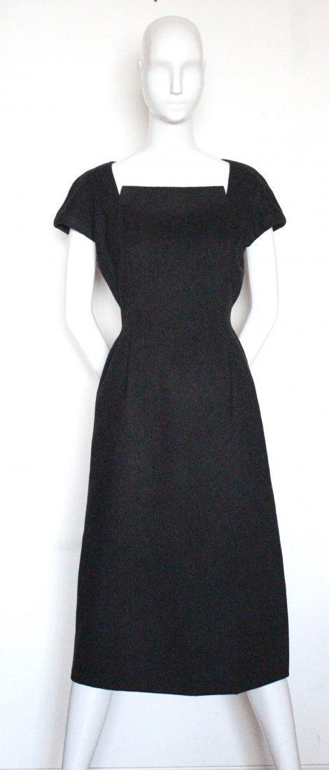 Christian Dior Haute Couture Gray Dress, F/W 1955