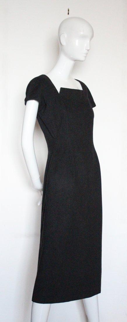Christian Dior Haute Couture Gray Dress, F/W 1955 - 2