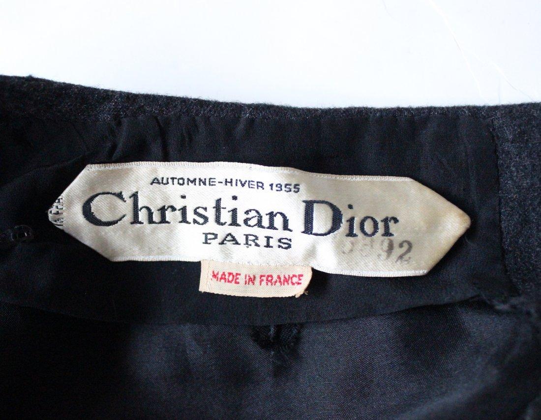 Christian Dior Haute Couture Gray Dress, F/W 1955 - 5