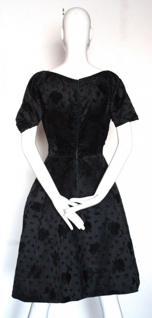 Hattie Carnegie Couture Cocktail Dress, 1950's - 3