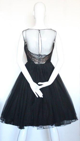 Harvey Berin Black Cocktail Dress, ca.1950's - 3