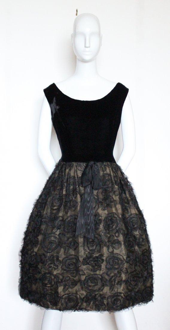 G. Kazazian Paris Couture Cocktail Dress, ca. 1950's