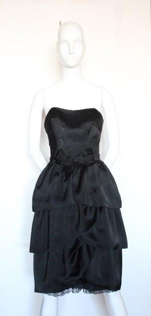 Christian Dior by YSL Copy Black Dress, F/W 1959