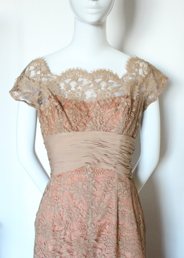 Marshall Fields & Co. Chantilly Lace Dress, ca.1960's - 2