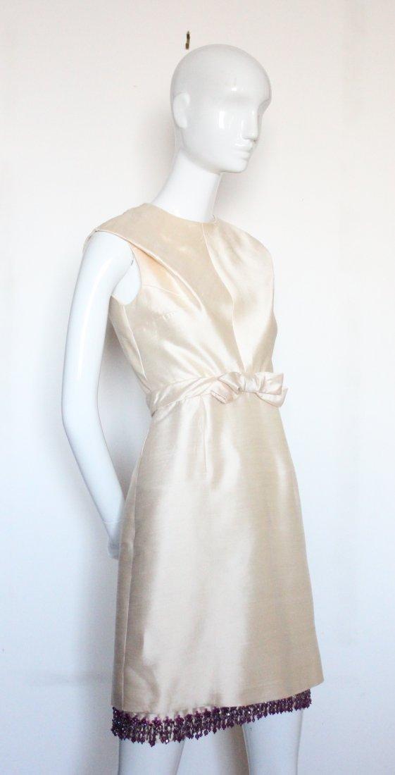 Christian Dior Beige Silk Beaded Dress, S/S 1965