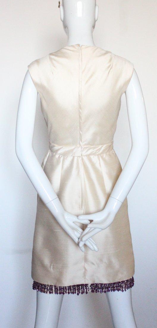 Christian Dior Beige Silk Beaded Dress, S/S 1965 - 3