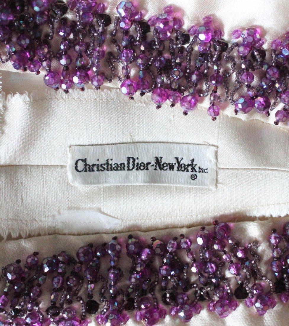 Christian Dior Beige Silk Beaded Dress, S/S 1965 - 4
