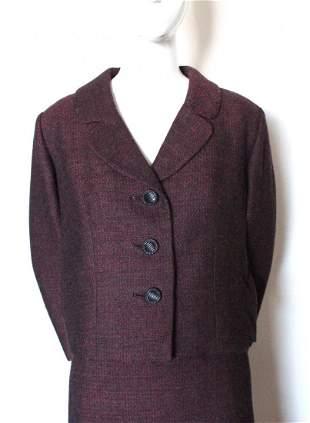 Bergdorf Goodman Couture Tweed Suit FW 1966