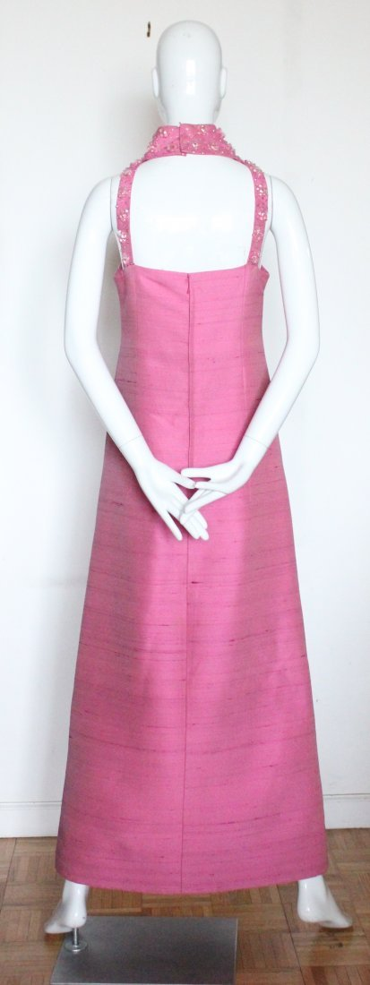 Pierre Cardin Embroidered Pink Evening Dress, ca. 1966 - 3