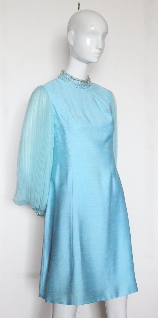Marshall Fields French Room Blue Dress, ca. 1960's