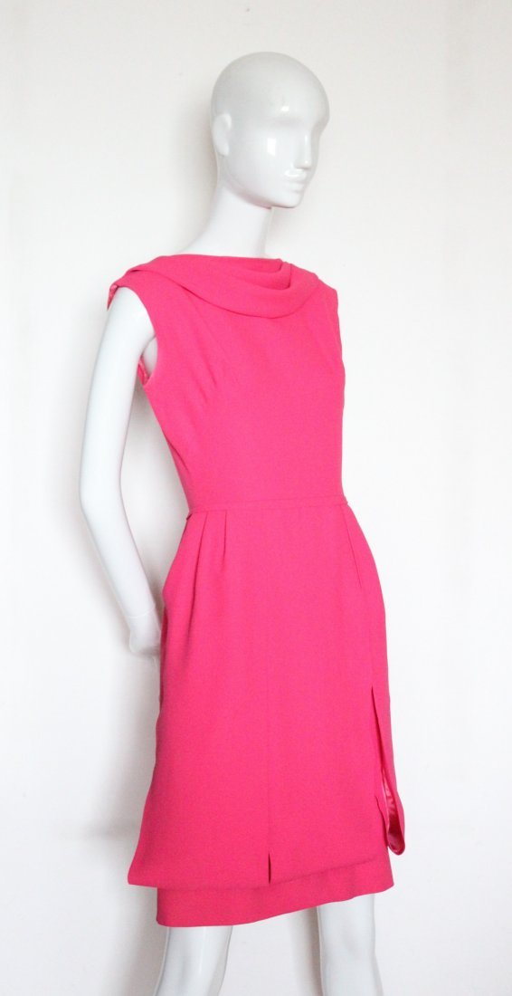 Saks Fifth Avenue Hot Pink Dress, ca.1960's