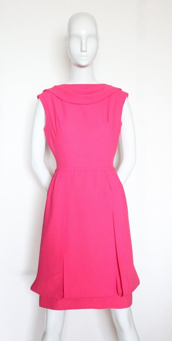 Saks Fifth Avenue Hot Pink Dress, ca.1960's - 2