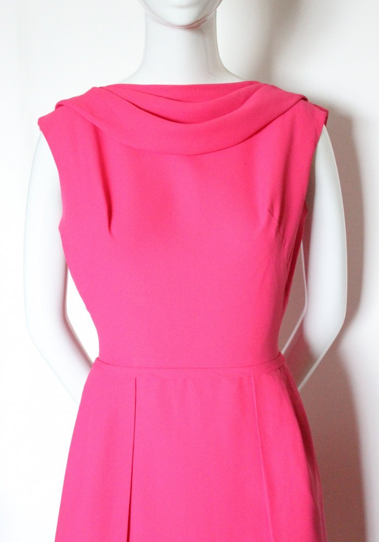 Saks Fifth Avenue Hot Pink Dress, ca.1960's - 3