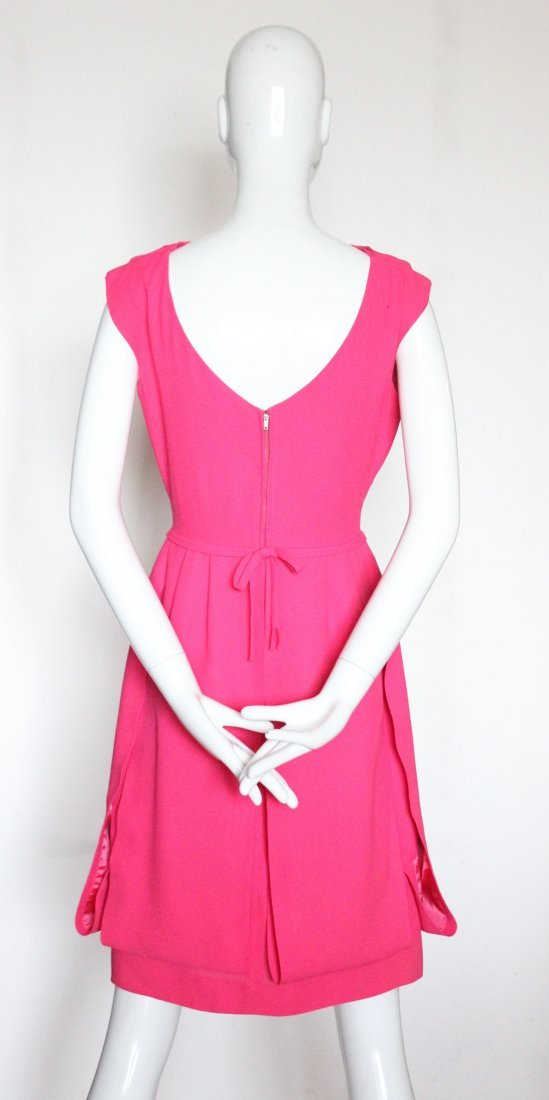 Saks Fifth Avenue Hot Pink Dress, ca.1960's - 4