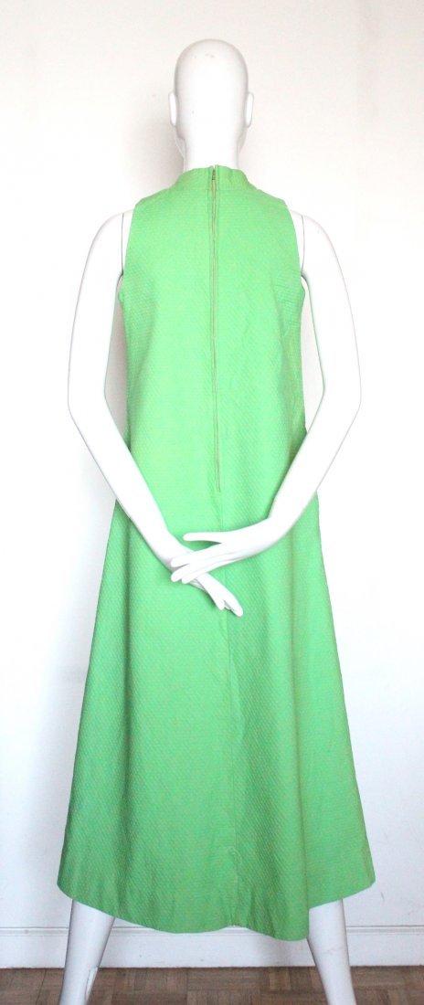 Kiyomi of Hawaii Green Mod Dress, ca.1960's-70's - 2