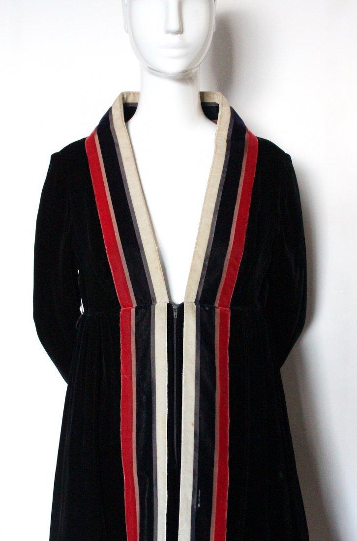 Geoffrey Beene Black Velvet Dress, ca. 1960's