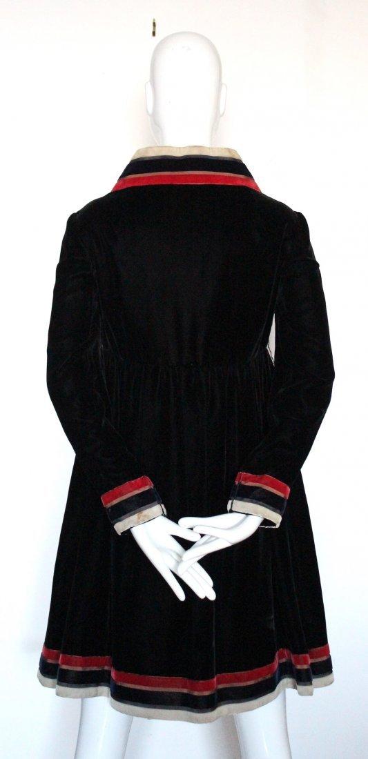 Geoffrey Beene Black Velvet Dress, ca. 1960's - 3
