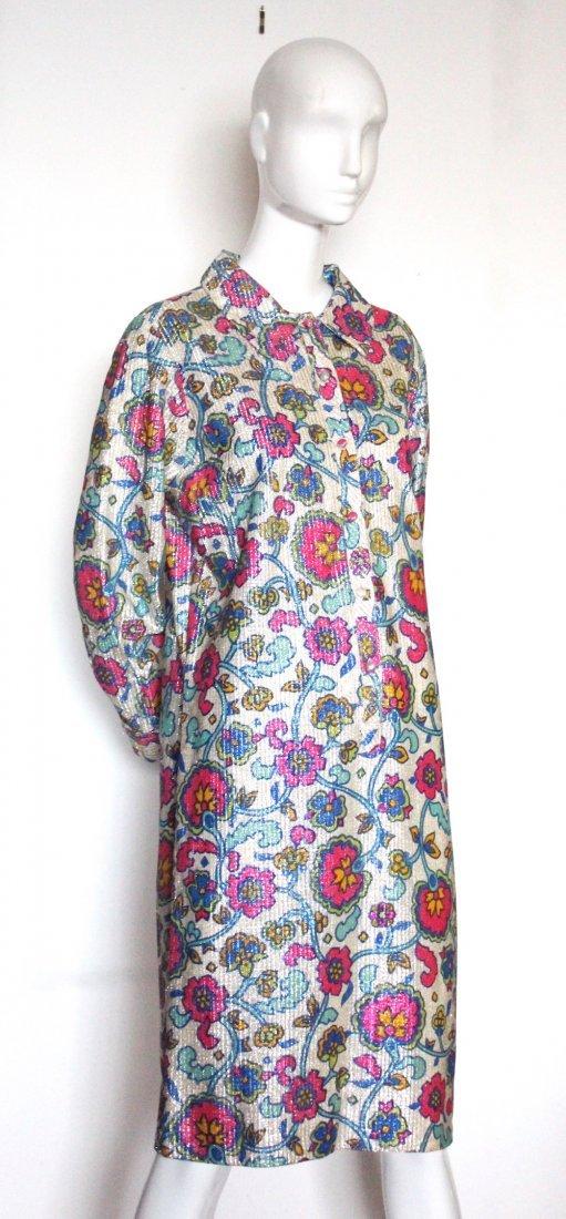 Mr. Paul Floral Print Lurex Knit Dress, ca. 1960's