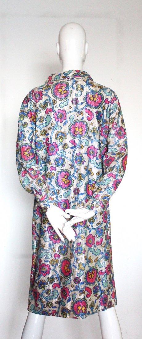 Mr. Paul Floral Print Lurex Knit Dress, ca. 1960's - 3