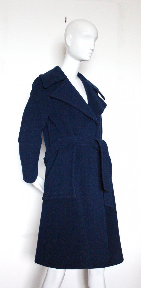 Pierre Cardin Blue Wool Coat, early 1970s