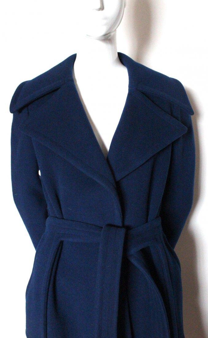 Pierre Cardin Blue Wool Coat, early 1970s - 2