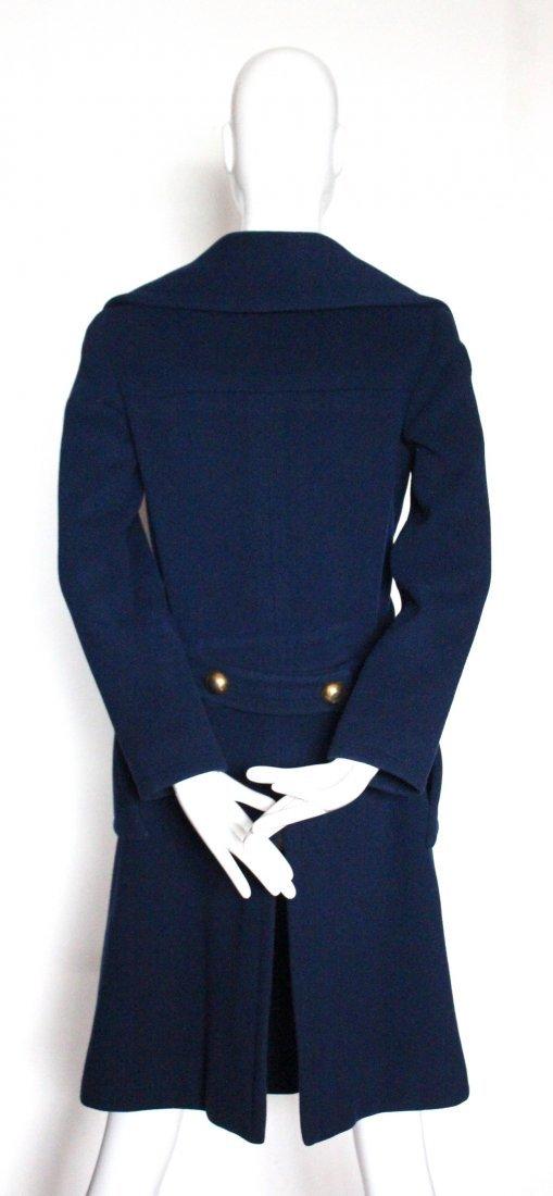 Pierre Cardin Blue Wool Coat, early 1970s - 3