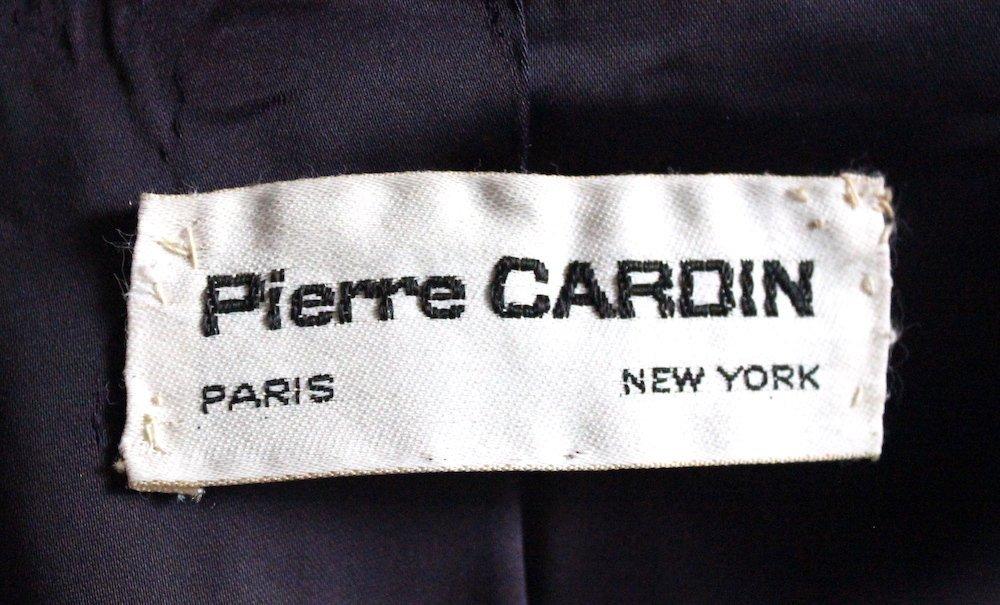 Pierre Cardin Blue Wool Coat, early 1970s - 4