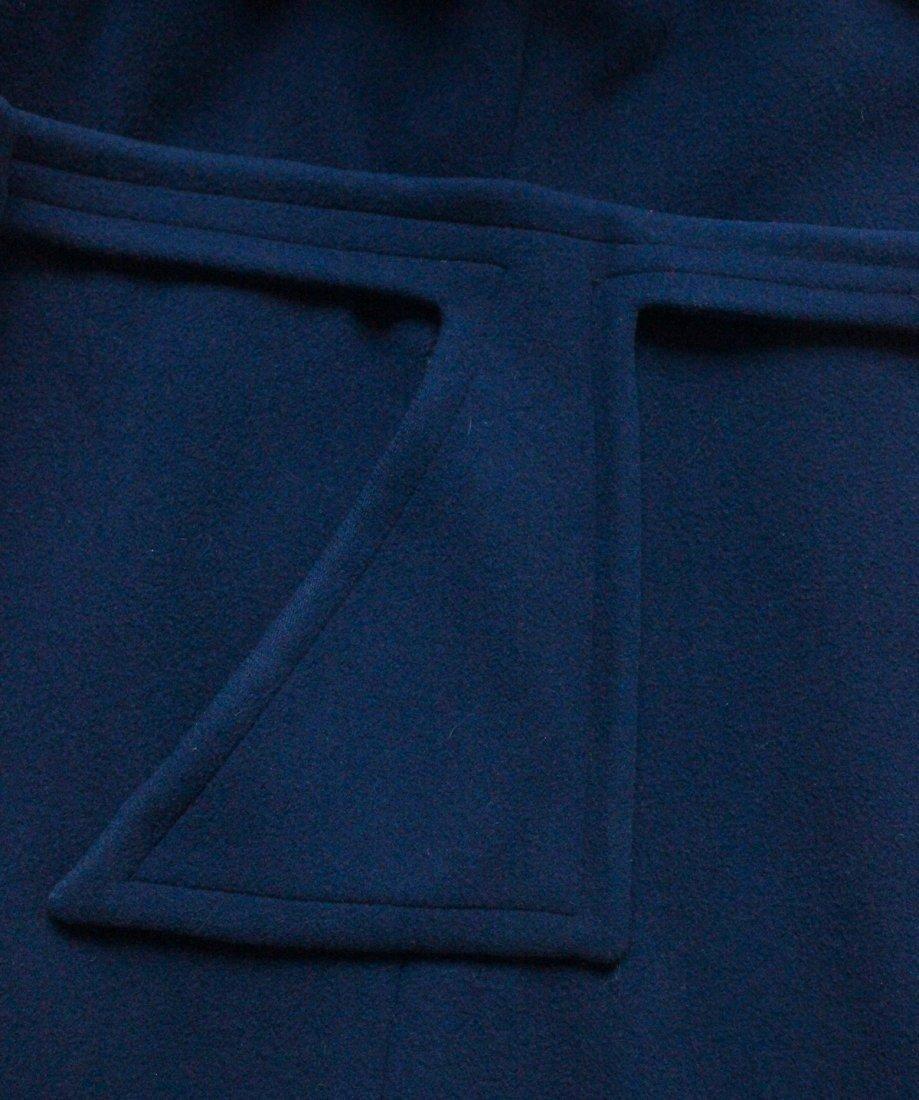 Pierre Cardin Blue Wool Coat, early 1970s - 5