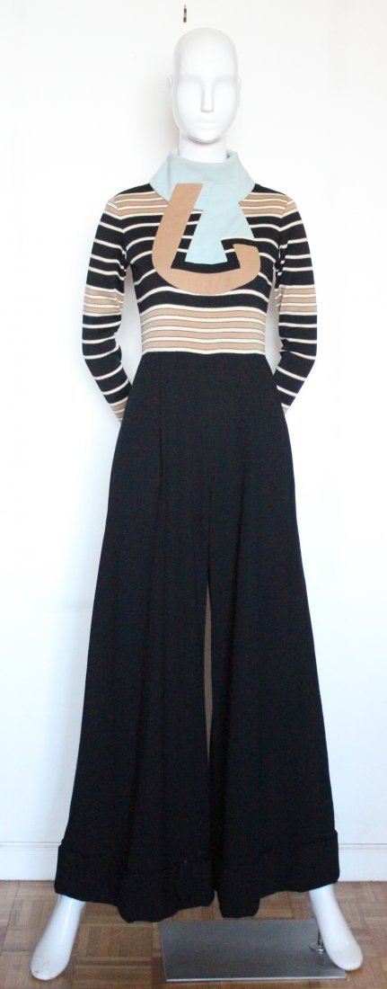 Ronald Amey Wool Knit Jumpsuit. ca. early 1970's - 2