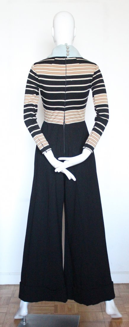 Ronald Amey Wool Knit Jumpsuit. ca. early 1970's - 4