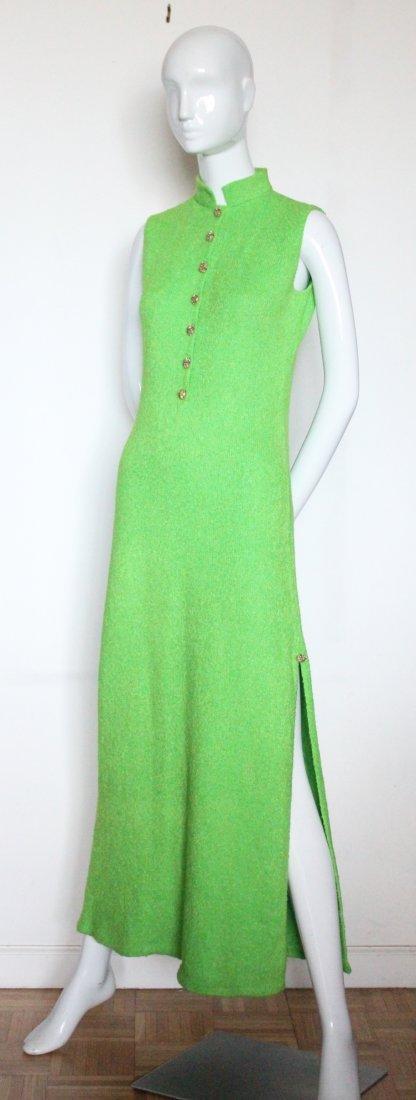 St. John Knits Green Maxi Dress, ca. 1970's