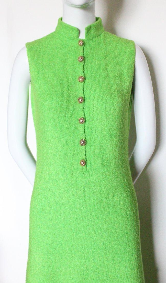 St. John Knits Green Maxi Dress, ca. 1970's - 2