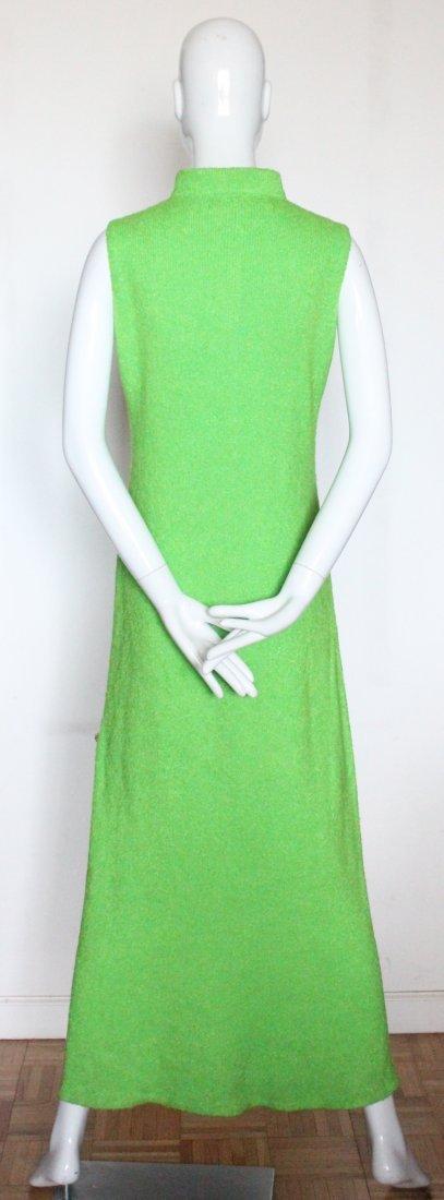 St. John Knits Green Maxi Dress, ca. 1970's - 3