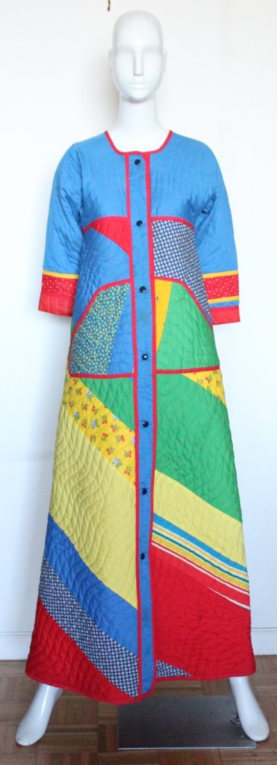 Jeanne-Marc Patchwork Quilted Coat, ca. 1970's