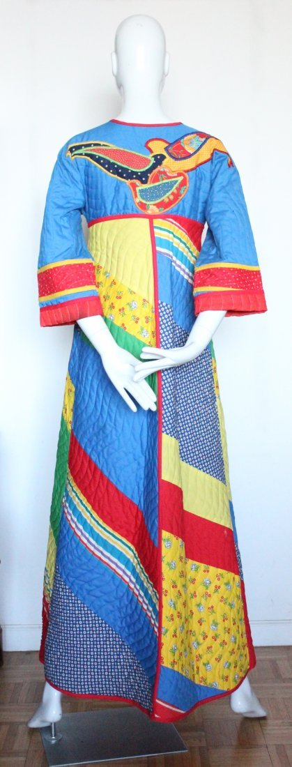 Jeanne-Marc Patchwork Quilted Coat, ca. 1970's - 2