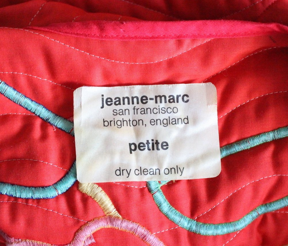 Jeanne-Marc Patchwork Quilted Coat, ca. 1970's - 3