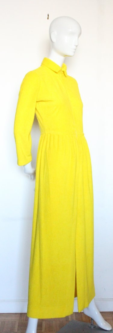 Henri Bendel Yellow Terry Cloth Beach Dress, ca.1970s