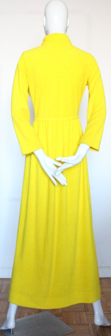 Henri Bendel Yellow Terry Cloth Beach Dress, ca.1970s - 3