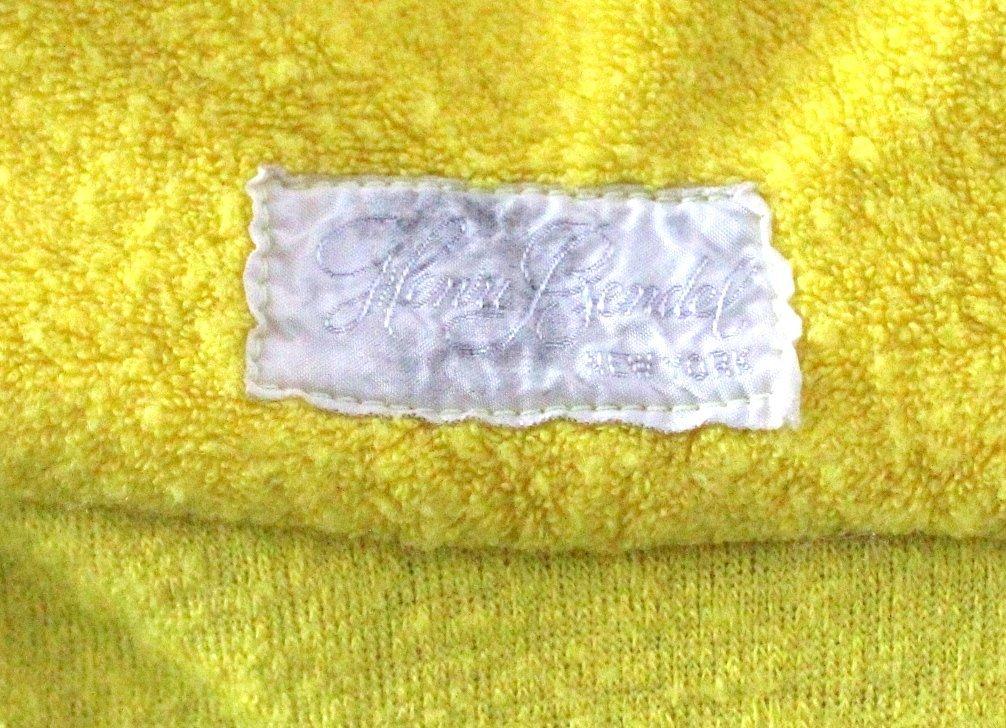 Henri Bendel Yellow Terry Cloth Beach Dress, ca.1970s - 4