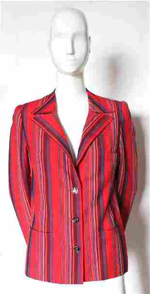 Lanvin Haute Couture Striped Jacket ca 1970s