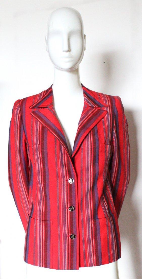 Lanvin Haute Couture Striped Jacket, ca. 1970's