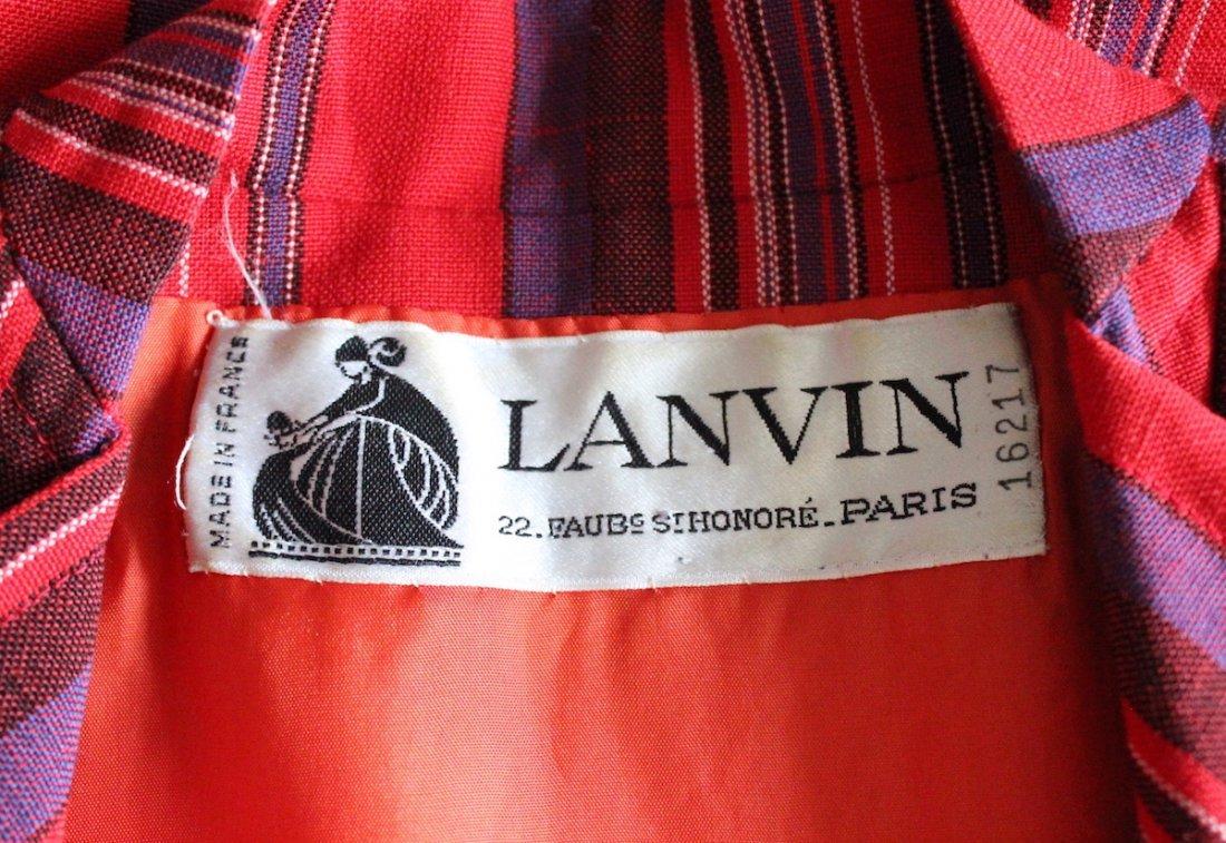 Lanvin Haute Couture Striped Jacket, ca. 1970's - 3